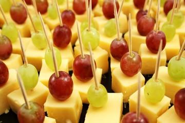 Nahaufnahme  Käsespieße