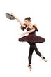 Portrait of a ballerina dancer posing