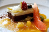 Chocolate tart with exotic fruits  Costa Blanca Spain
