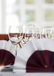 Weinglas in angenehmen Ambiente