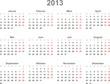 Kalender 2013, deutsch, Vektor