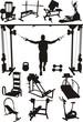 Постер, плакат: Спортивные тренажеры