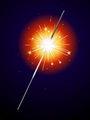 Lit sparkler