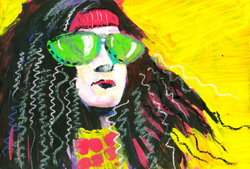 Portrait of hippie