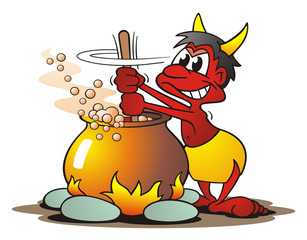 Devil with Cauldron