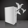 Give wings to your knowledge. Empty white book.