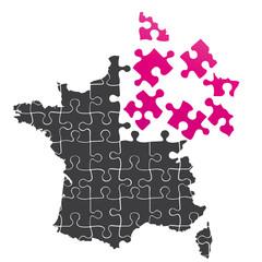 carte de france en puzzle