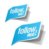 Follow me and follow us bubbles