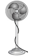 The Electric ventilator for refreshment of the air,