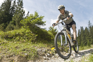 Spass mit dem Mountainbike