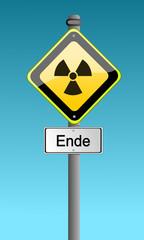 Atomaustieg Schild