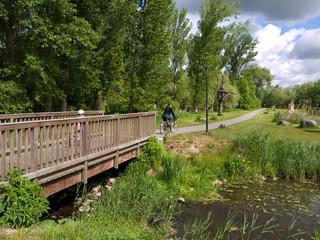 Radtour durch die Natur