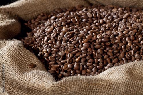 Papiers peints Café en grains Coffee beans in sack
