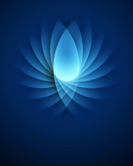 Blue smooth light lines vector background