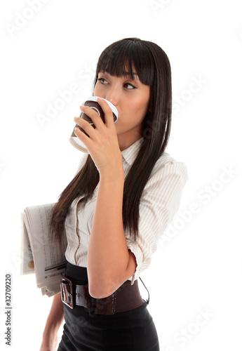 Professional woman drinking coffee - 32709220