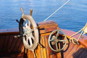 steuerrad vom segelboote