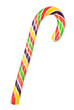 colorful candy cane with clipping path