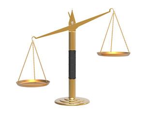 Apothecary scales unbalanced