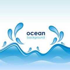 Ocean Background # Vector