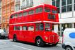 Leinwanddruck Bild - London bus