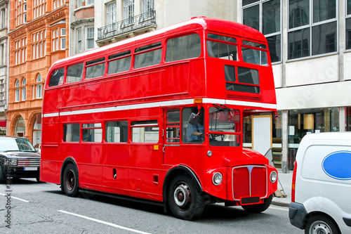 Leinwanddruck Bild London bus