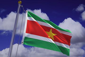 Waving Surinamese Flag