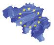 Belgien mit Europaflagge