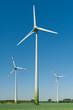 Windkrafträder in einem Feld