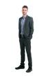 Full length smiling businessman