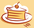 Piece of cake.  Vector illustration