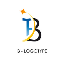 Logo letter B with star # Vector