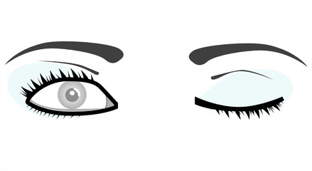 vector woman eyes illustration
