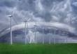 Wind farm at shtorm.