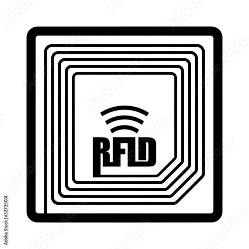 rfid chip v1 i als aufkleber 3 0 x 3 0 cm aus selbstklebender pvc folie 32725081. Black Bedroom Furniture Sets. Home Design Ideas