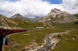 Bernina Express from Lake Como to St Moritz Switzerland
