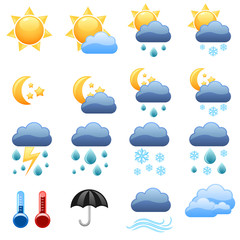 Cool weather vector icons foe web site.