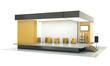Empty exhibition stand. 3D render.