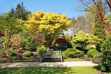 Beautiful garden in Spring time
