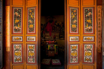 Chinese Temple Doors Altar