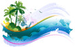 Tropical background illustration