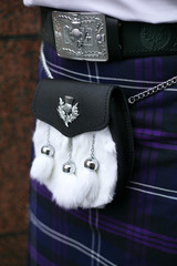 herritage of scotland kilt and half dress white rabbit sporan