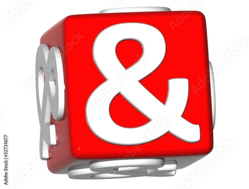3D Ampersand mark