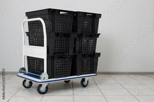 Transport warehouse cart with containers #2