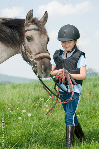 Best friends - little jockey and horse - 32735074