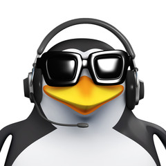 3d Penguin gives phone support