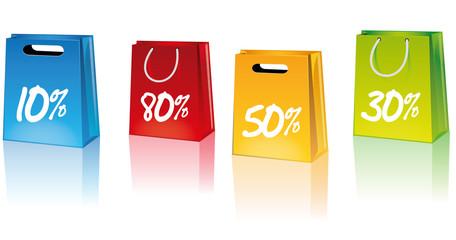 Icon Shop Einkaufstüte Sale 10% 80% 50% 30%