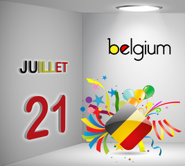 National Holiday 3D Calendar Belgium