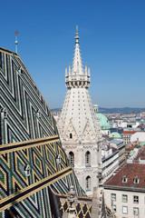 Blick vom Stephansdom auf Wien
