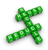 reuse, reduce and recycle poster