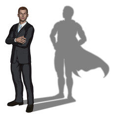 Businessman superhero concept